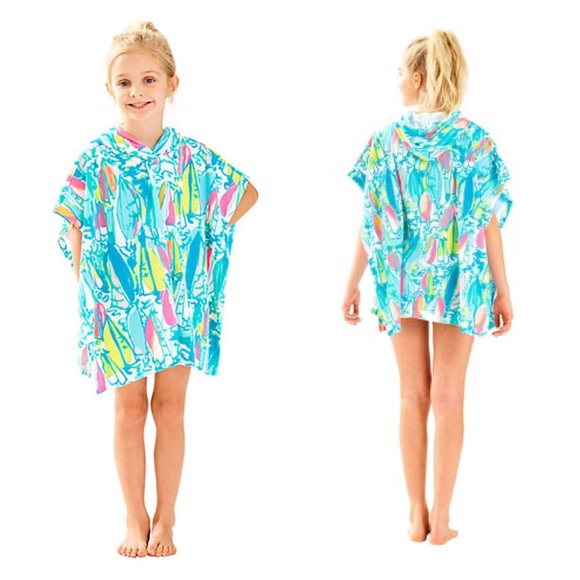 0badd8f82c Lilly Pulitzer Swim | Girls Lyra Coverup Hood Beach Bae | Poshmark